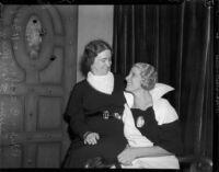 Evangelists Aimee Crawford and Rheba Crawford, Los Angeles, 1934