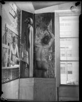 Mural panel by artist Leo Katz at the Frank Wiggins Trade School, Los Angeles, 1935