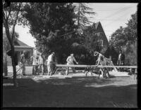 Construction of Ella Freeman's Neighborhood House, Los Angeles, circa 1935