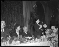 Luncheon in honor for L. E. Behymer at the Biltmore Hotel, Los Angeles, September 26, 1935