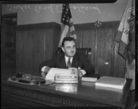 Judge Cecil D. Holland, Beverly Hills, October 1935