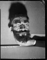 Mask of Ethiopian Emperor Haile Selassie by artists Beulah Woodward, Los Angeles, circa September 1935