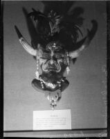 Mask of African medicine man by artists Beulah Woodward, Los Angeles, circa September 1935