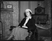 Policewoman Jean Peirce, Los Angeles, circa December 1935