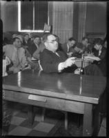 Lawyer Erwin P. Werner in court, 1935