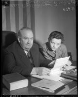 Judge Thomas P. White and child actor Freddie Bartholomew, circa 1936