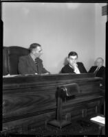 Radio Officer A.H. Hamilton testifying before Deputy Coroner Frank Monfort, October 1935