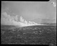 Forest fire in Malibu, circa October 1935