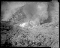 Forest fire in Malibu, circa October 1935