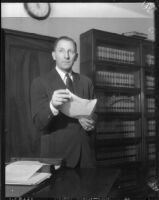 Los Angeles County District Attorney Buron Fitts, circa 1935