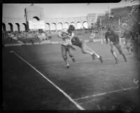 Play between USC and UCLA at the Coliseum, Los Angeles, 1935