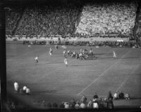 Match between UCLA and USC at the Coliseum, Los Angeles, 1935