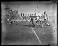 Play between USC and UCLA the Coliseum, Los Angeles, 1935