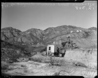 Flood control construction, Altadena, California, circa October-November 1935