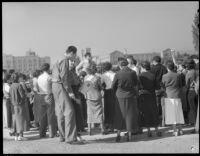 Anti-war rally at UCLA, November 8, 1935