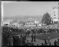 Armistice Day / football rally at UCLA, November 8, 1935