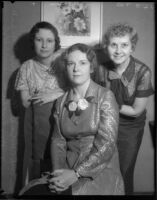 Mrs. Paul T. Hoffman, Mrs. Wilfred L. Grant, Mrs. Harold G. Appleton, Los Angeles, circa 1935