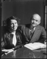 Sonja Branting and Judge Ben B. Lindsey, Los Angeles, November 1935