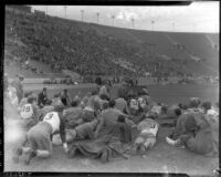 UCLA team before Loyola game at Los Angeles Memorial Coliseum, circa 1935