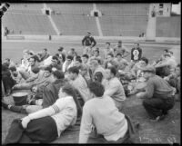 UCLA Bruins before Loyola Marymount Lions game at Los Angeles Memorial Coliseum, circa 1935