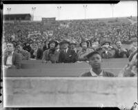 Spectators at Los Angeles Memorial Coliseum, circa 1935