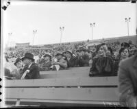 Spectators at Los Angeles Memorial Coliseum, circa 1935