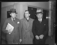 Attorney Jerry Giesler, director Busby Berkeley, and attorney Milton Cohen, circa 1935