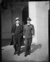 Attorney Milton Cohen and director Busby Berkeley, circa 1935