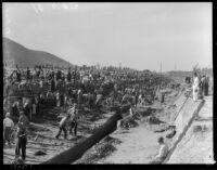 WPA project on La Brea, circa 1936