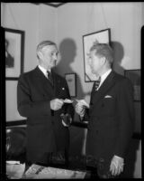 US Senator William Gibbs McAdoo meets with Robert Riddell