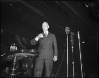 William Gibbs McAdoo speaking at unknown event
