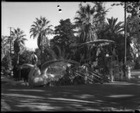 """Cleopatra"" float at the Tournament of Roses Parade, Pasadena, 1936"
