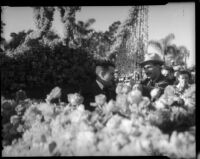 James Allred interviewed at Tournament of Roses Parade, Pasadena, 1936
