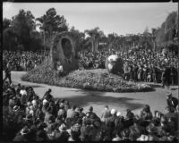 Will Rogers commemorative float at Tournament of Roses Parade, Pasadena, 1936