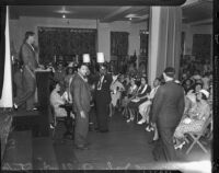 Audience at estate sale of John Gilbert, Los Angeles, August 24, 1936