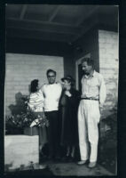 Aldous and Maria Huxley with unidentified man and woman/Aldous and Maria Huxley with son Matthew and unidentified woman [descriptive]