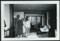Aldous and Maria Huxley with Swami Prabhavanda and one unidentified woman