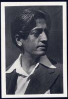 Jiddu Krishnamurti portrait, profile [descriptive]