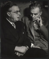 Aldous and Julian Huxley, seated, 1958