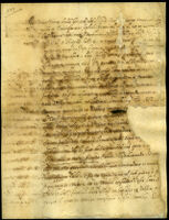 Testamento di Vicino Orsini di Bomarzo Altro foglio con firma autografa [?] del detto Vicino che provvede a figli naturali legittimati.