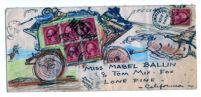 Illustrated envelope from Hugo Ballin to Mabel Ballin