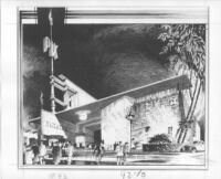 "Newsreel Theatre ""Pix,""  photograph of rendering"