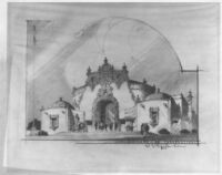 Linda Vista Theatre, Mexico City, photograph of rendering