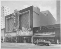 Miami Theatre, Miami, façade