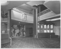 Miami Theatre, Miami, foyer: mural and seat