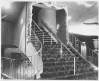 Miami Theatre, Miami, stair to balcony