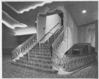 Miami Theatre, Miami, stair to mezzanine
