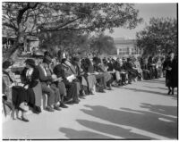 Spectators on Derby Day at Santa Anita, February 22, 1937.