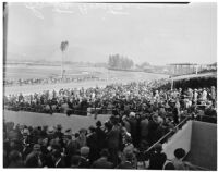 Crowd at Derby Day at the Santa Anita racetrack, February 22, 1937.