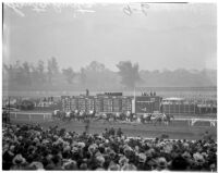 Derby day at the Santa Anita racetrack, February 22, 1937.